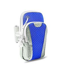 Funda Brazalete Deportivo Brazo Correr Universal B32 para Huawei P30 Pro Azul