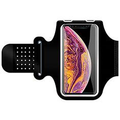 Funda Brazalete Deportivo Brazo Correr Universal G01 para Huawei Mate 7 Negro