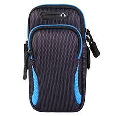 Funda Brazalete Deportivo Brazo Correr Universal L01 para Sony Xperia XA2 Ultra Azul