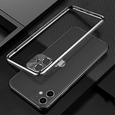 Funda Bumper Lujo Marco de Aluminio Carcasa N01 para Apple iPhone 12 Mini Negro