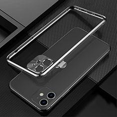 Funda Bumper Lujo Marco de Aluminio Carcasa N01 para Apple iPhone 12 Negro