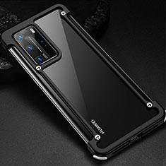 Funda Bumper Lujo Marco de Aluminio Carcasa N01 para Huawei P40 Pro Negro