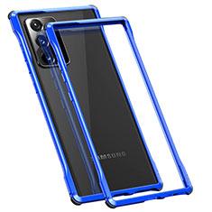 Funda Bumper Lujo Marco de Aluminio Carcasa N01 para Samsung Galaxy Note 20 Ultra 5G Azul