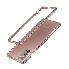 Funda Bumper Lujo Marco de Aluminio Carcasa N03 para Samsung Galaxy Note 20 5G Bronze