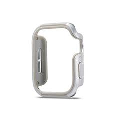 Funda Bumper Lujo Marco de Aluminio Carcasa para Apple iWatch 5 40mm Plata