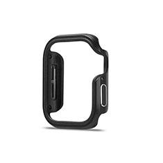 Funda Bumper Lujo Marco de Aluminio Carcasa para Apple iWatch 5 44mm Negro
