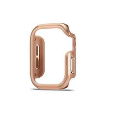 Funda Bumper Lujo Marco de Aluminio Carcasa para Apple iWatch 5 44mm Oro