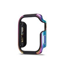 Funda Bumper Lujo Marco de Aluminio Carcasa para Apple iWatch 5 44mm Vistoso