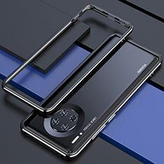 Funda Bumper Lujo Marco de Aluminio Carcasa para Huawei Mate 30 Pro Negro