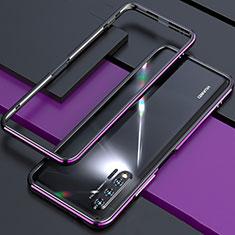 Funda Bumper Lujo Marco de Aluminio Carcasa para Huawei Nova 6 5G Morado