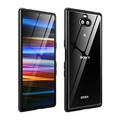 Funda Bumper Lujo Marco de Aluminio Carcasa para Sony Xperia 10 Plus Negro