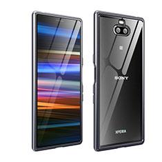 Funda Bumper Lujo Marco de Aluminio Carcasa para Sony Xperia XA3 Ultra Gris