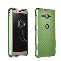 Funda Bumper Lujo Marco de Aluminio Carcasa para Sony Xperia XZ2 Compact Verde