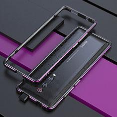 Funda Bumper Lujo Marco de Aluminio Carcasa para Xiaomi Mi 9T Pro Morado