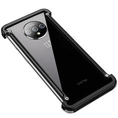 Funda Bumper Lujo Marco de Aluminio Carcasa T01 para OnePlus 7T Negro