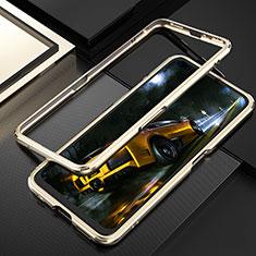 Funda Bumper Lujo Marco de Aluminio Carcasa T01 para Realme X50 Pro 5G Oro