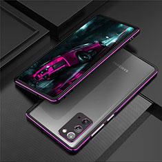 Funda Bumper Lujo Marco de Aluminio Carcasa T01 para Samsung Galaxy Note 20 5G Morado