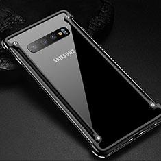 Funda Bumper Lujo Marco de Aluminio Carcasa T01 para Samsung Galaxy S10 Plus Negro
