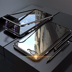 Funda Bumper Lujo Marco de Aluminio Espejo 360 Grados Carcasa M01 para Apple iPhone 8 Plus Negro