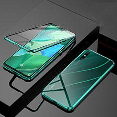 Funda Bumper Lujo Marco de Aluminio Espejo 360 Grados Carcasa M01 para Huawei Enjoy 10e Verde
