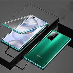 Funda Bumper Lujo Marco de Aluminio Espejo 360 Grados Carcasa M01 para Huawei Honor 30 Pro Verde