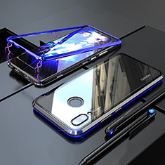 Funda Bumper Lujo Marco de Aluminio Espejo 360 Grados Carcasa M01 para Huawei Nova 3i Azul