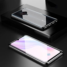 Funda Bumper Lujo Marco de Aluminio Espejo 360 Grados Carcasa M01 para Vivo X50 Lite Negro