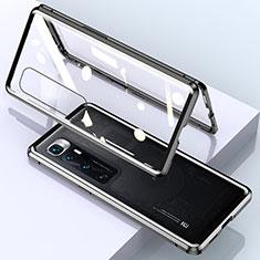 Funda Bumper Lujo Marco de Aluminio Espejo 360 Grados Carcasa M01 para Xiaomi Mi 10 Ultra Negro