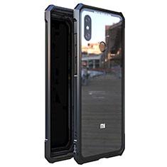 Funda Bumper Lujo Marco de Aluminio Espejo 360 Grados Carcasa M01 para Xiaomi Mi 8 Negro
