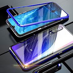 Funda Bumper Lujo Marco de Aluminio Espejo 360 Grados Carcasa M01 para Xiaomi Mi A3 Lite Azul