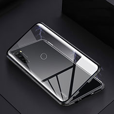 Funda Bumper Lujo Marco de Aluminio Espejo 360 Grados Carcasa M01 para Xiaomi Redmi Note 8 Negro
