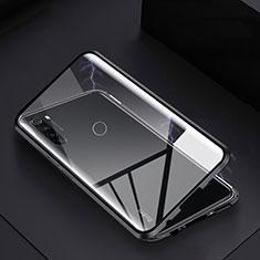 Funda Bumper Lujo Marco de Aluminio Espejo 360 Grados Carcasa M01 para Xiaomi Redmi Note 8T Negro