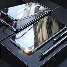 Funda Bumper Lujo Marco de Aluminio Espejo 360 Grados Carcasa M02 para Apple iPhone XR Negro