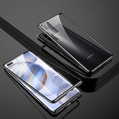 Funda Bumper Lujo Marco de Aluminio Espejo 360 Grados Carcasa M02 para Huawei Honor 30 Pro+ Plus Negro