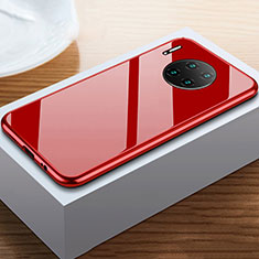 Funda Bumper Lujo Marco de Aluminio Espejo 360 Grados Carcasa M02 para Huawei Mate 30E Pro 5G Rojo