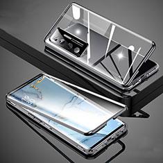 Funda Bumper Lujo Marco de Aluminio Espejo 360 Grados Carcasa M02 para Xiaomi Mi 10 Ultra Negro