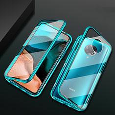 Funda Bumper Lujo Marco de Aluminio Espejo 360 Grados Carcasa M02 para Xiaomi Poco F2 Pro Verde