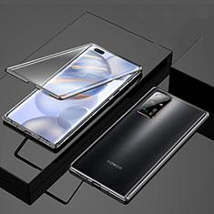 Funda Bumper Lujo Marco de Aluminio Espejo 360 Grados Carcasa M03 para Huawei Honor 30 Negro