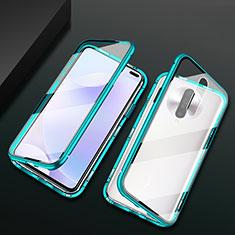 Funda Bumper Lujo Marco de Aluminio Espejo 360 Grados Carcasa M03 para Xiaomi Poco X2 Verde