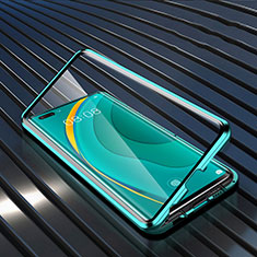 Funda Bumper Lujo Marco de Aluminio Espejo 360 Grados Carcasa M04 para Huawei Nova 7 Pro 5G Verde