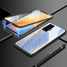 Funda Bumper Lujo Marco de Aluminio Espejo 360 Grados Carcasa M04 para Vivo X51 5G Negro