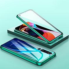 Funda Bumper Lujo Marco de Aluminio Espejo 360 Grados Carcasa M04 para Xiaomi Mi 10 Verde