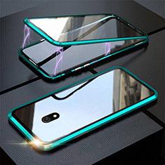 Funda Bumper Lujo Marco de Aluminio Espejo 360 Grados Carcasa M04 para Xiaomi Redmi 8A Verde