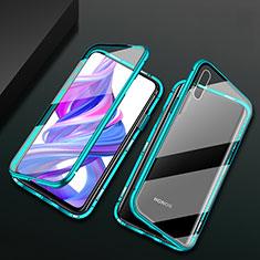 Funda Bumper Lujo Marco de Aluminio Espejo 360 Grados Carcasa M05 para Huawei Honor 9X Verde