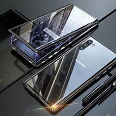 Funda Bumper Lujo Marco de Aluminio Espejo 360 Grados Carcasa M07 para Samsung Galaxy Note 10 5G Negro