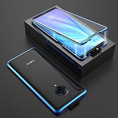 Funda Bumper Lujo Marco de Aluminio Espejo 360 Grados Carcasa M08 para Vivo Nex 3 Azul