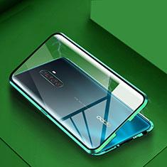 Funda Bumper Lujo Marco de Aluminio Espejo 360 Grados Carcasa M09 para Realme X2 Pro Verde