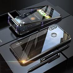 Funda Bumper Lujo Marco de Aluminio Espejo 360 Grados Carcasa P01 para Huawei Honor 8X Negro