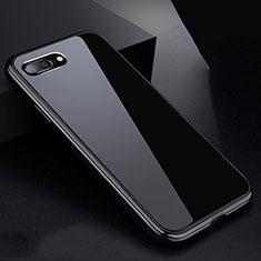 Funda Bumper Lujo Marco de Aluminio Espejo 360 Grados Carcasa para Apple iPhone 8 Plus Negro