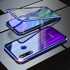 Funda Bumper Lujo Marco de Aluminio Espejo 360 Grados Carcasa para Huawei Honor 20 Lite Azul